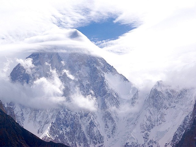 A view of Gasherbrum in Baltistan, one of the highest mountains in Pakistan. PHOTO: FILE