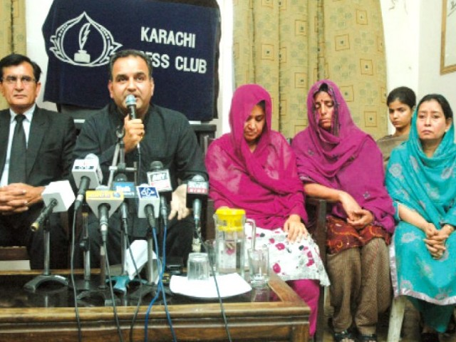 "The chairperson of the Pak-Hindu Welfare Association, Mangla Sharma said that they would appeal to the federal Shariat court against the ""brainwashing"" of Hindu girls. PHOTO: MOHAMMAD SAQIB/ EXPRESS"