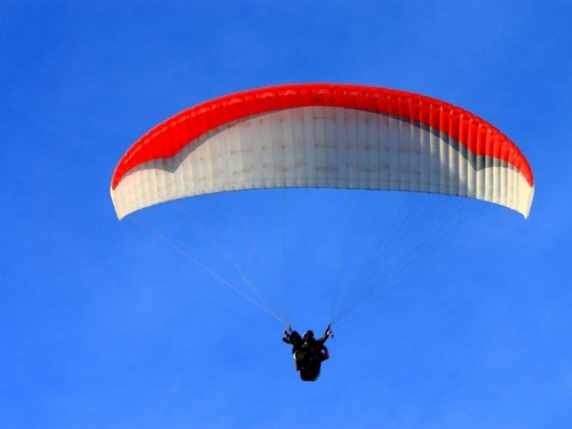 Hardison, of Ogden, Utah, decided to go paragliding after her 75-year-old son Allen took up the sport.