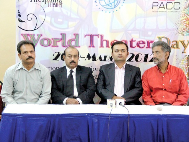 Nasir Salim, Javed Yousuf, Faisal Malik and Sohail Malik share their opinion on how to enhance theatre in Pakistan. PHOTO: SANIF SHERWA
