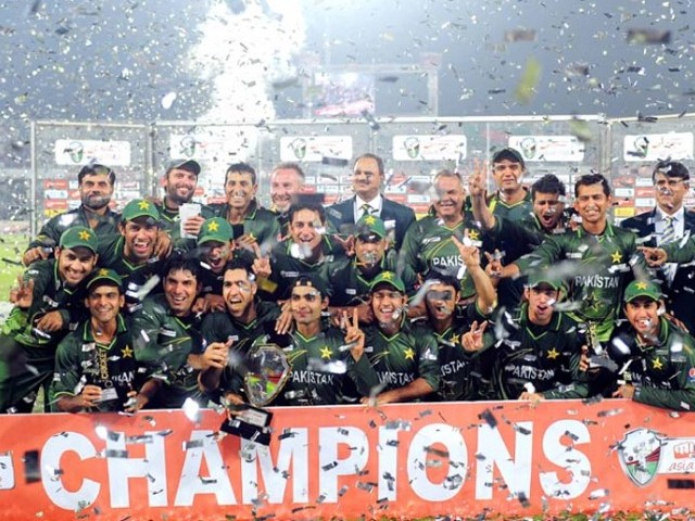 Pakistan clinched only their second Asia Cup title in Dhaka late Thursday. PHOTO: AFP/FILE