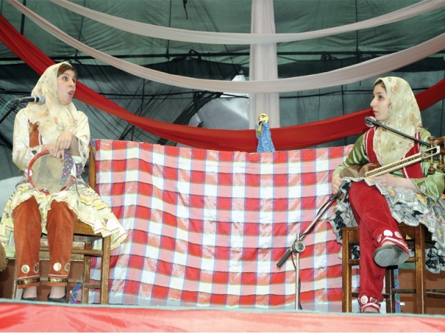 Anne Hilgesen from Norway and Apple Tree sisters from Iran performed at the ninth Rafi Peer Puppetry Festival. PHOTO: PUBLICITY