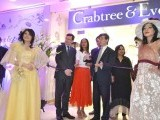 The Launch of a leading UK beauty care retailer Crabtree & Evelyn's first store in Pakistan. British High Commissioner to Pakistan Adam Thomson was the chief guest at the occasion. The glamorous 'Victorian Era' dresses displayed by various models were artistically designed and created by Amina Jauhar along with Saman Arif and Afifa Tariq.  PHOTO: ARIF SOOMRO.