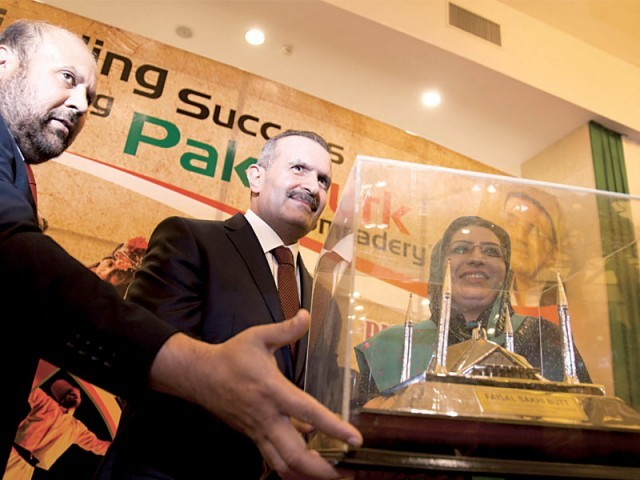 Kayaturk being awarded the prestigious title. PHOTO: MYRA IQBAL