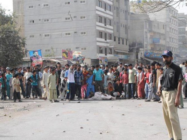 Resident demand for permanent arrangements for dealing with unrest. PHOTO: MOHAMMAD SAQIB/FILE