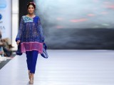 Warda 'Warda Experience collection' was the only lawn summer collection on display. However, the lawn was styled and cut in western outfits. The colour palette included various shades of greens and blues.
