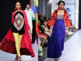 Irfan Ali  This PIFD's graduate made his debut drawing Pakistani rural heritage on his designs. At his second showing, Ali remained within similar cultural boundaries and touched on the rich festival of Jamat in Punjab.