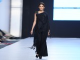 Amina Jauhar, one of the most talented student's from Asian Institute of Fashion Design introduced by the young and talented Zaheer Abbas showed her take on black ensembles.