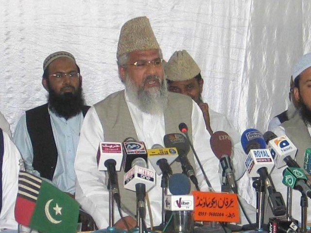 Chief of Ahle Sunnat wal Jamaat (ASWJ), Ahmed Ludhianvi. PHOTO: IRFAN ALI/EXPRESS