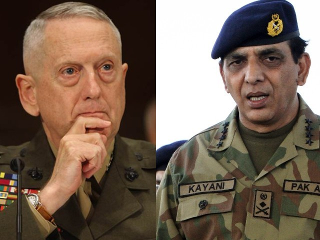 The meeting between Kayani and the American commanders is the first since NATO airstrikes in November last year. PHOTO: AFP/REUTERS