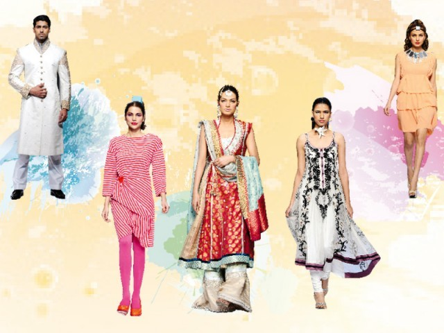 From 'courtesans of Lahore' to 'Parisian glamour', the finale showcased it all. PHOTO: FAISAL FAROOQUI AT DRAGONFLY