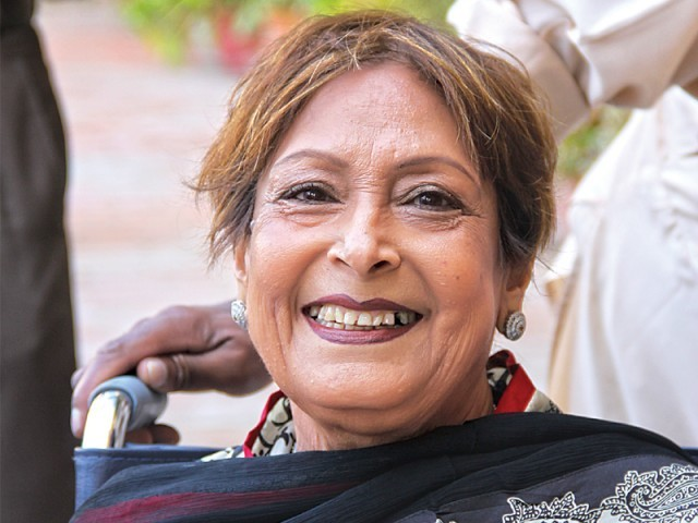 Parveen Kassim, the principal of the Karachi High School. PHOTO: EXPRESS