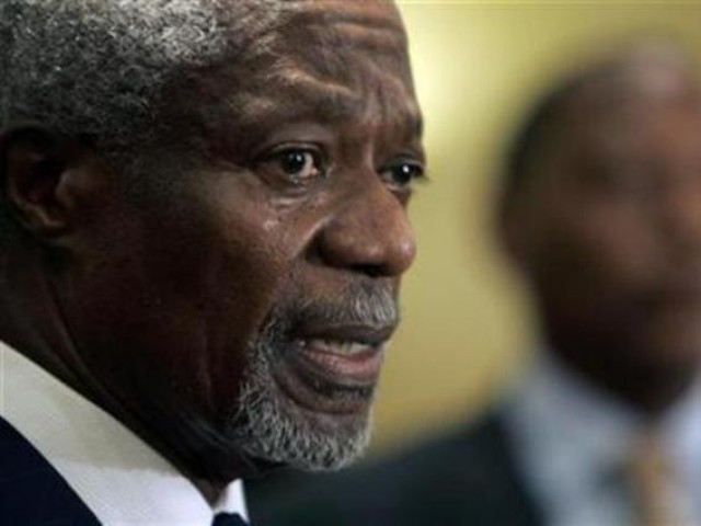 "Annan said Syria had agreed to ""immediately"" start pulling troops out of protest cities and complete a troop and heavy weapon withdrawal by April 10. PHOTO: REUTERS"