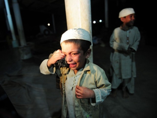 Three children, under the age of 5, were tortured by madrassa teacher for plucking flowers from madrassa's garden. PHOTO: AFP/ FILE