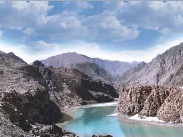 A one-year campaign against the Bhasha Dam project, to keep the flow of the River Indus uninterrupted, has been designed by PFF. PHOTO: APP