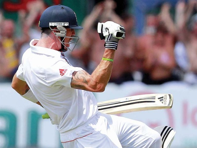 Pietersen hit an explosive century that helped England take a healthy first-innings lead as they search for a series-levelling win to retain their number one ranking. PHOTO: AFP