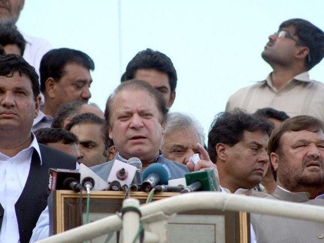 PML-N chief says he still prays for forgiveness of president's father, even went to see him at hospital. PHOTO: INP