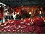 A stall selling flower petals and sacred threads inside the compound of the shrine of Sufi saint Khwaja Moinuddin Chishti. PHOTO: REUTERS