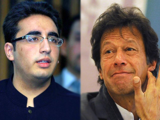 PTI Chairman slams nepotism in selection of Bilawal Bhutto as PPP party chairman. PHOTO: EXPRESS/FILE