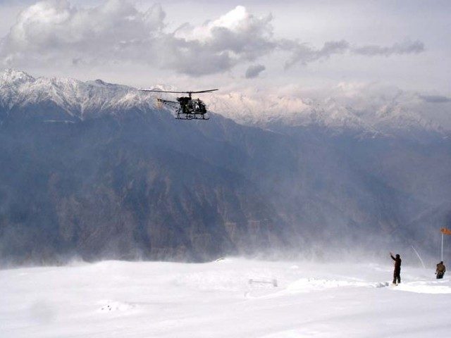 A view of snow-covered Siachen, the world's highest battlefield. PHOTO: FILE