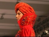 A model walks on ramp during Islamabad Fashion Week 2012 at Pak-China Friendship Centre on Tuesday. PHOTO: MUHAMMAD JAVAID/ EXPRESS TRIBUNE