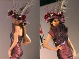 Model walks on ramp during Islamabad Fashion Week 2012 at Pak-China Friendship Centre on Tuesday. PHOTO: MUHAMMAD JAVAID/ EXPRESS TRIBUNE