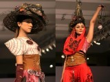 Models display ensembles during Islamabad Fashion Week 2012 at Pak-China Friendship Centre on Tuesday. PHOTO: MUHAMMAD JAVAID/ EXPRESS TRIBUNE