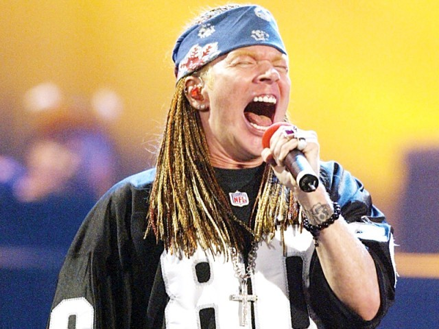 Axl Rose, the lead singer of Guns N' Roses, has declined his induction into the Rock and Roll Hall of Fame. PHOTO: AFP