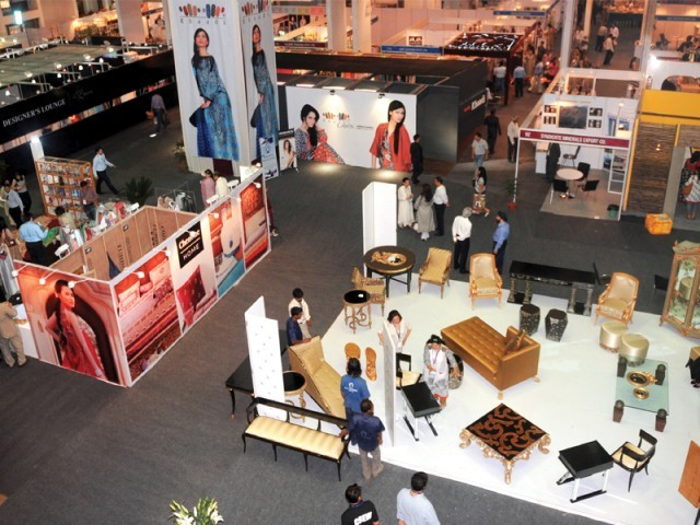 Pakistan has brought more than 650 business people from textile giants to furniture manufacturers to the Indian capital for the trade show. PHOTO: REUTERS