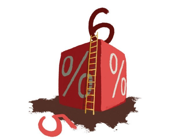 Leaves the benchmark discount rate unchanged at 12%. ILLUSTRATION: JAMAL KHURSHID