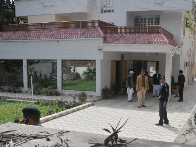 A view of the house where Osama Bin Laden family staying in Islamabad. PHOTO: EXPRESS/ FILE