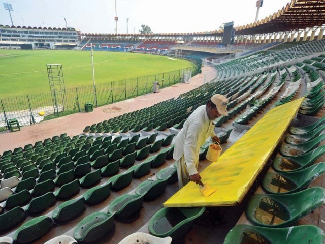 It has been over three years since Pakistan hosted a Test-playing nation and Gadaffi Stadium has earned the privilege to end the drought. PHOTO: AFP