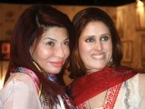Saba and Tehmina.PHOTO COURTESY M FAROOQ AND TAKEII