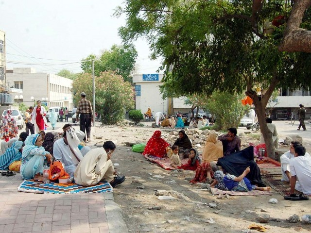 The patients continued to suffer on Wednesday, the seventh day of the OPD strike in Lahore, with paramedical staff also absent from teaching hospitals. PHOTO: PPI