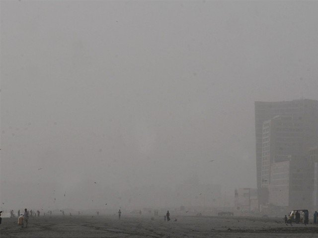 The meteorological office predicts that Karachi might receive between five and 10 millimetres of rain on Thursday. Dusty winds developed on Wednesday evening as seen here at Sea View. PHOTO: IRFAN ALI/EXPRESS