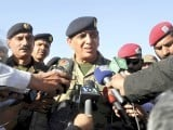 Army chief Gen Ashfaq Parvez Kayani talks to the media. PHOTO: APP