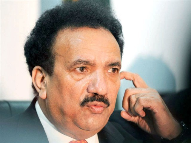 """Every inch of Pakistan is sacred,"" Federal Minister for Interior Rehman Malik said."