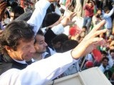 Imran Khan hopes to stage biggest public gathering in the city. PHOTO: QASIM USMAN/FILE