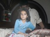 Seven-year-old Nafeesa Batool was standing at the door, trembling at the sight of the crimson sky as it exploded, debris landing in the verandah of her home in Koral Town. PHOTO : MYRA IQBAL