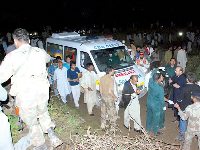 The CDA chairperson said they were stopped from dispatching their ambulances without permission from Punjab Rescue 1122. PHOTO: FILE