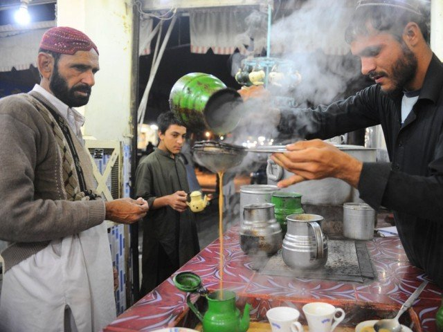 A view of a Dhaba (tea shop) in Karachi. PHOTO: JALAL QURESHI/ EXPRESS