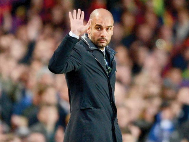 After a good show in the first-leg but an unfavourable result, Barcelona coach Pep Guardiola remains confident of the team being able to raise its game. PHOTO: AFP