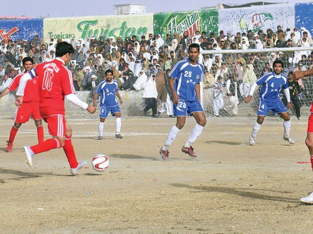 Mohammad Khan's 34th-minute equaliser and a goal from Kaleemullah four minutes later helped the tourists take the lead. PHOTO: FILE EXPRESS