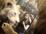 A visitor looks at historic stuffed animal in an exhibition hall of the Naturhistorisches Museum Wien (Museum of Natural History) in central Vienna April 3, 2012.  PHOTO: REUTERS