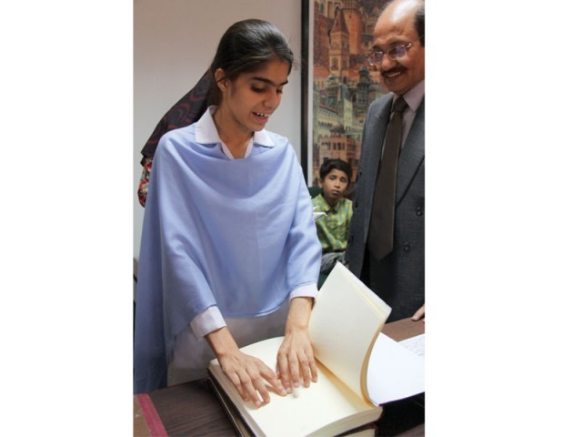 The princpal of Ida Rieu, Qudsia Khan said that the Braille writing-system  in exams will improve transparency. The writer method had been commercialised. Not only did writers charge a fee but they also promised good grades to the visually-impaired students. PHOTO: AYESHA MIR/EXPRESS