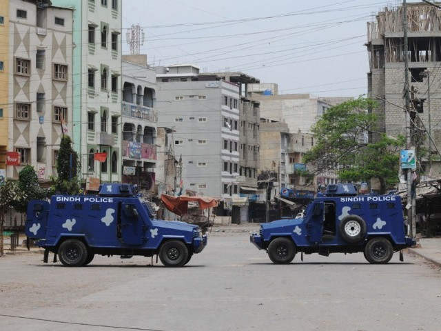 Operation being conducted in search of around 30 wanted criminals including Baba Ladla. PHOTO: IRFAN ALI/FILE