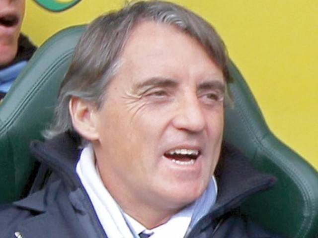 """I think they have more chance than us,"" said Mancini. PHOTO: AFP"