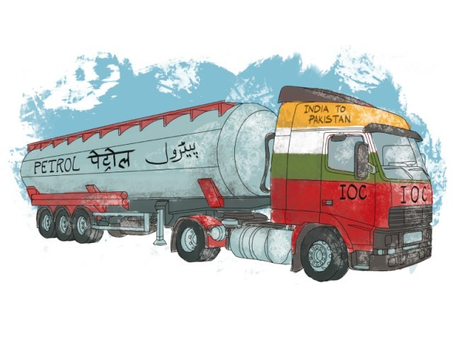 Bhatinda oil refinery set up 100km away from Pakistan's border. ILLUSTRATION: JAMAL KHURSHID