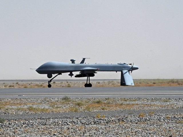 Drone kills 3 militants at girls school in Miranshah. PHOTO: AFP/ FILE