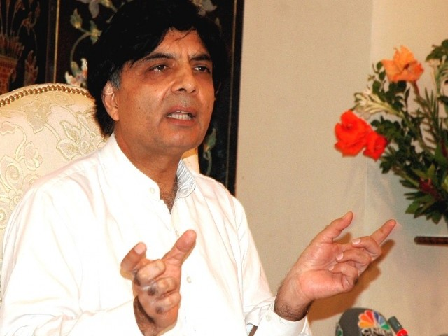 Rehman Malik calls Sharifs 'Kings of liars'; Nisar credits Malik with 'stinking reputation'. PHOTO: FILE